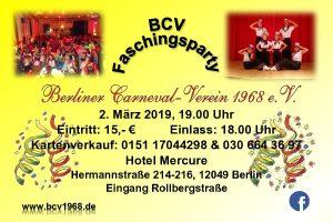 BCV-Faschingsparty @ Hotel Mercure Berlin Tempelhof Airport